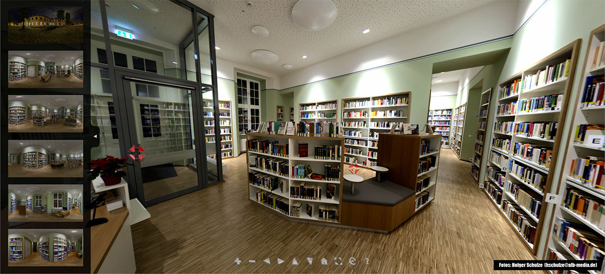 Virtual Tour of a Hospital Library